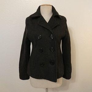 SALE American Eagle dark grey wool pea coat
